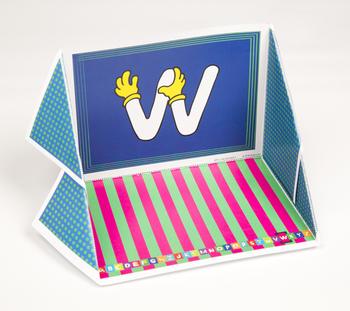 Quilt Hand Alphabet Display Case: W