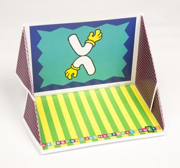 Quilt Hand Alphabet Display Case: X