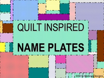 Quilt Inspired Name Plates