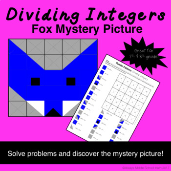 Dividing Integers Color Mystery Pattern