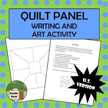 Back To School Quilt Panel Writing/Art activity (U.S. Version)