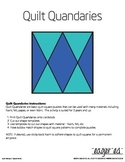 Quilt Quandaries - Basic quilt square puzzles for foam, fe