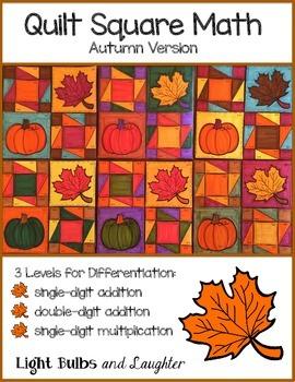 Fall Autumn Math Art - Quilt Square