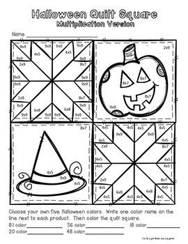 Halloween Math Art -Quilt Square