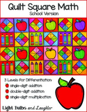School Math Art - Quilt Square