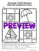 Seasons Math Art - Spring, Summer, Winter, Autumn - Quilt Square Bundle