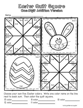 Easter Math Art - Quilt Square