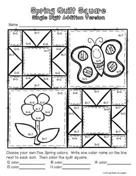 Spring Math Art - Quilt Square