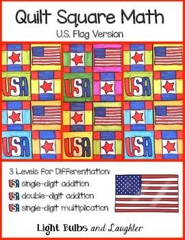 U.S. Flag Math Art - Quilt Square