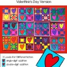 Valentine's Day Math Art Quilt