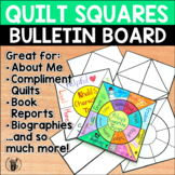Bulletin Board Quilt Squares Display
