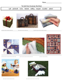 Quilt Story Vocabulary Pictures Fill in the Blank