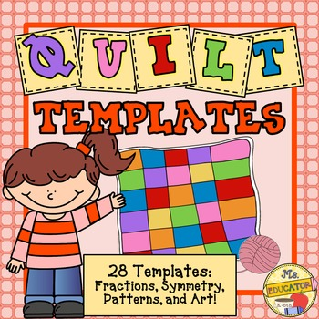 Simple Quilts Templates Quilt Kit : Quilt Templates - 28 designs by MsEducator Teachers Pay Teachers
