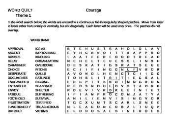 Quilt Word Search Houghton Mifflin Literature Grade 6