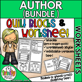 Quilt Worksheets & Blocks - BUNDLE (Author Biographies)