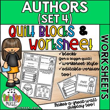 Quilt Worksheets & Blocks - Set 4 (Author Biographies)