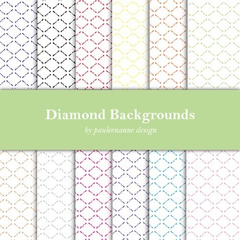 Quilted Diamond Pattern Background Package
