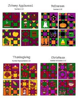 """Quilted Math - 12 Holiday Bundle - (""""Let's Celebrate!"""")"""