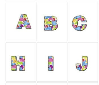 "Quilter's Specil Cllip Art Alphabet  /  95 pcs - 3.75"" High, Vector PDF and PNGs"