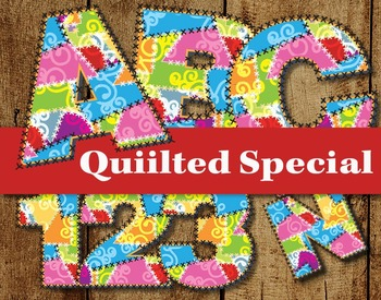 "Quilter's Specil Cllip Art Alphabet  /  95 pcs - 3.75"" Hig"