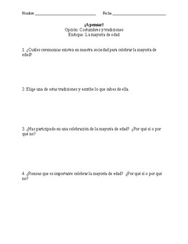 Quinceañearas - Unit Introduction