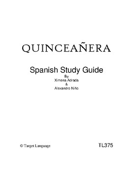Quinceanera-Spanish Study Guide
