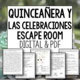 Quinceanera y las Celebraciones Break out room Spanish escape room
