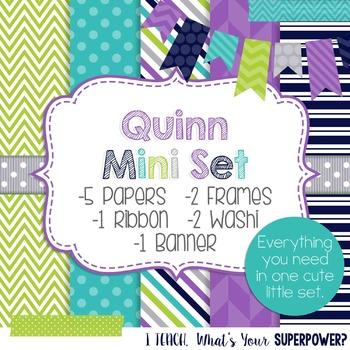 Digital Paper and Frame Mini Set Quinn