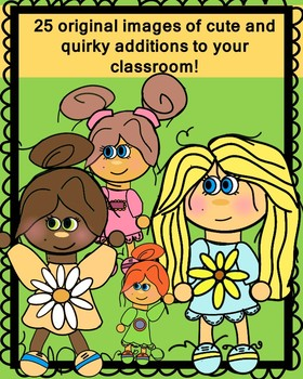 Quirky Kids Clip Art (Girls)