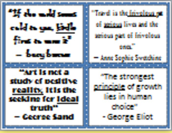 Quirky Quotes Comprehension Activity
