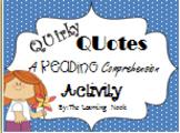 Quirky Quotes Comprehension Activity