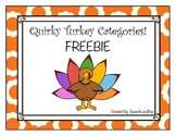 Quirky Turkey Categories Freebie
