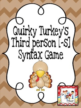 Quirky Turkey's 3rd Person [-s] Syntax Game