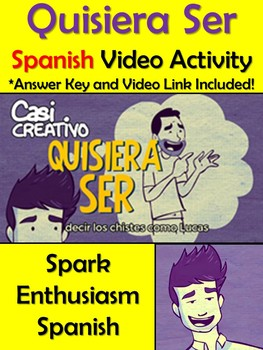 Quisiera Ser Spanish Video Activity and Comprehension Questions