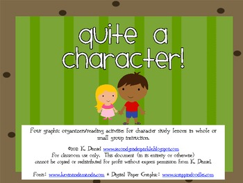 Quite a Character! {Character Graphic Organizers/Common-Core Aligned}