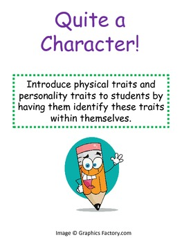 Quite a Character: Introducing Character Traits