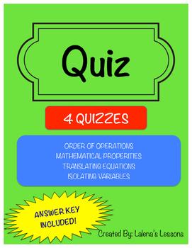 Quiz 1: Number Sense