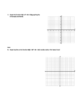 Quiz 1. Quadratics