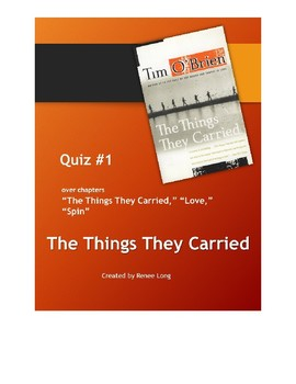 Quiz #1 for Tim O'Brien's The Things They Carried