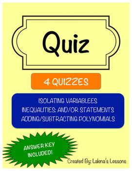 Quiz 2: Isolating Variables