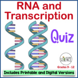RNA (Ribonucleic Acid) and Transcription Quiz or Review