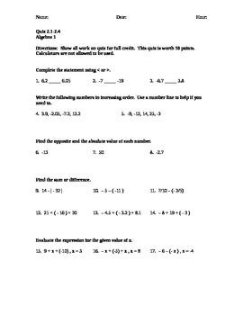 Quiz 2.1 - 2.4