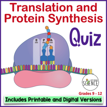 Translation and Protein Synthesis Quiz or Review