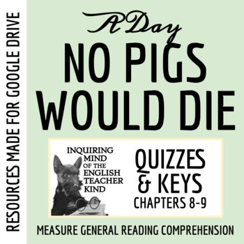 A Day No Pigs Would Die Quiz (Chapters 8-9)