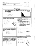 Quiz Area of Square, Rectangle, and Triangle