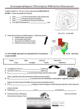 Quiz-Assessment Environmental Impacts TX Ecoregions, WED,