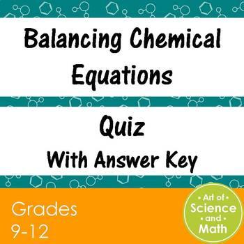 Quiz Balancing Chemical Equations