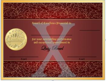 Quiz Bowl Award