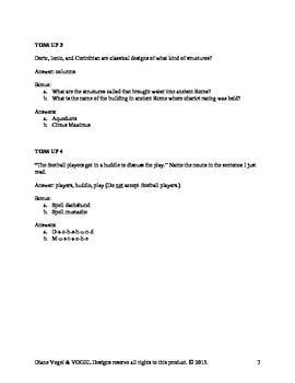 Quiz Bowl Questions