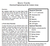 Quiz Cards: Student-Made Electronic Game Boards